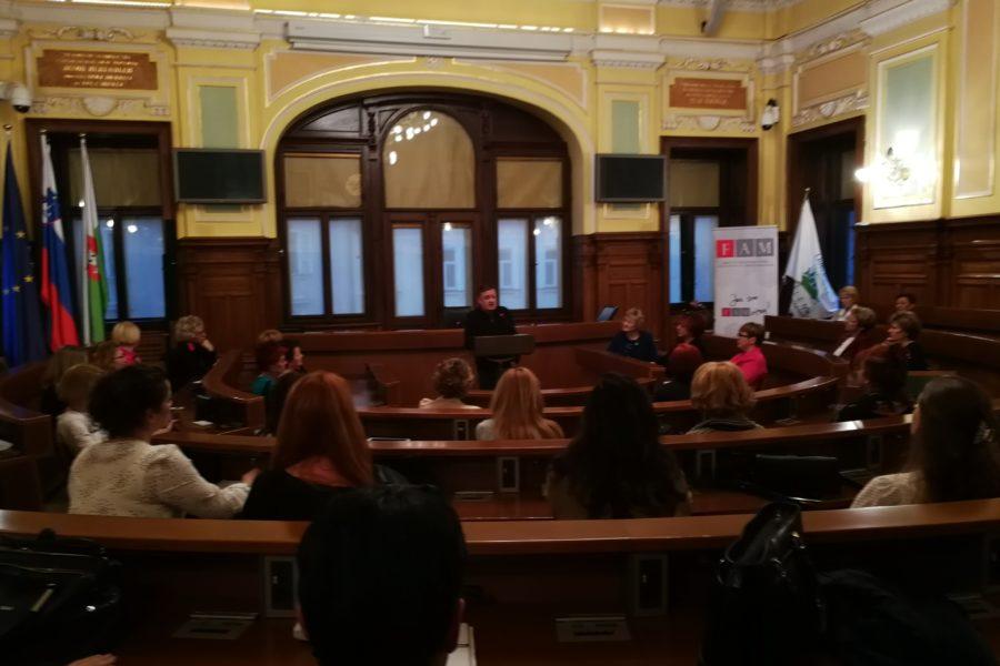 Srečanje društva poslovnih žensk v Ljubljani in obisk pri županu