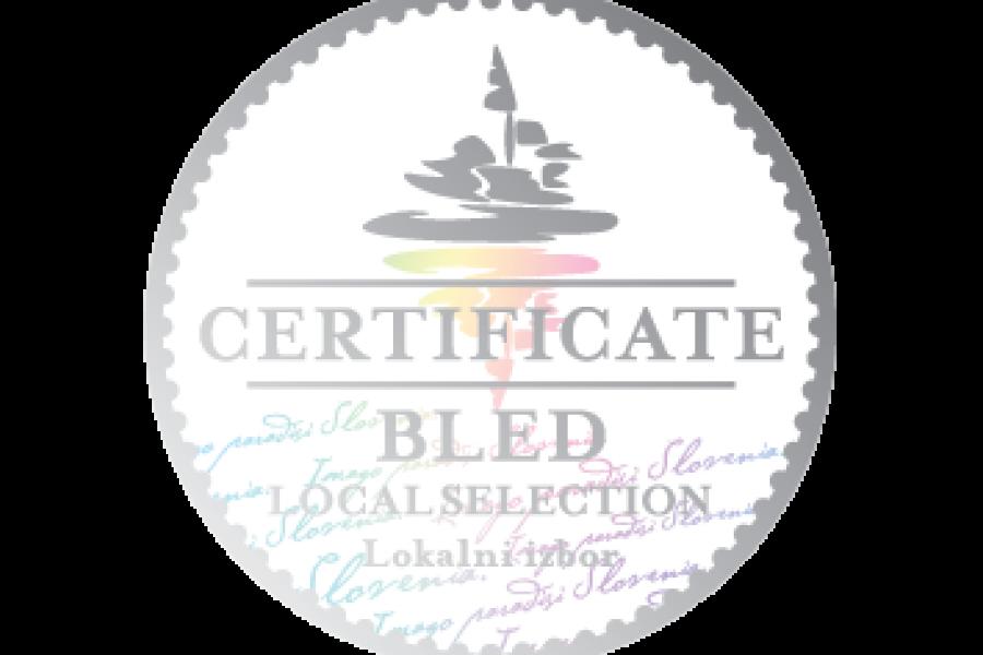 Conditusova Blejska kremšnita s certifikatom Bled Local Selection